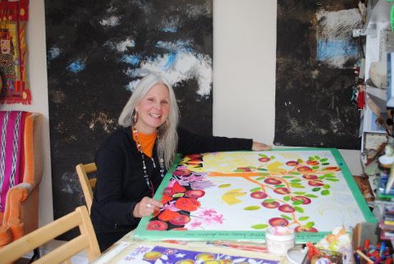 Wendy Picken in her studio